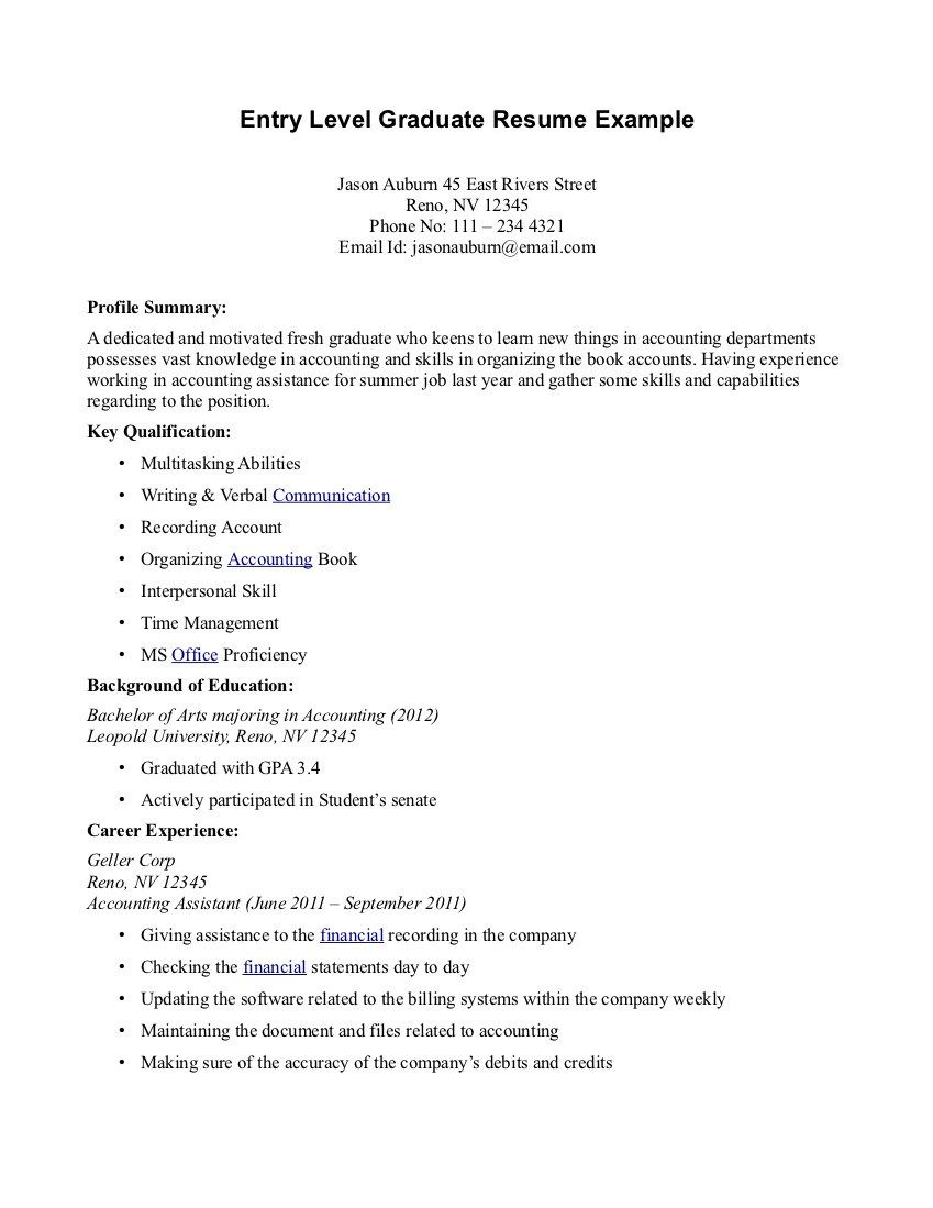 Objectives To Put On A Resume Cover Letter For Fresh Graduate Auditor Contoh Application Format