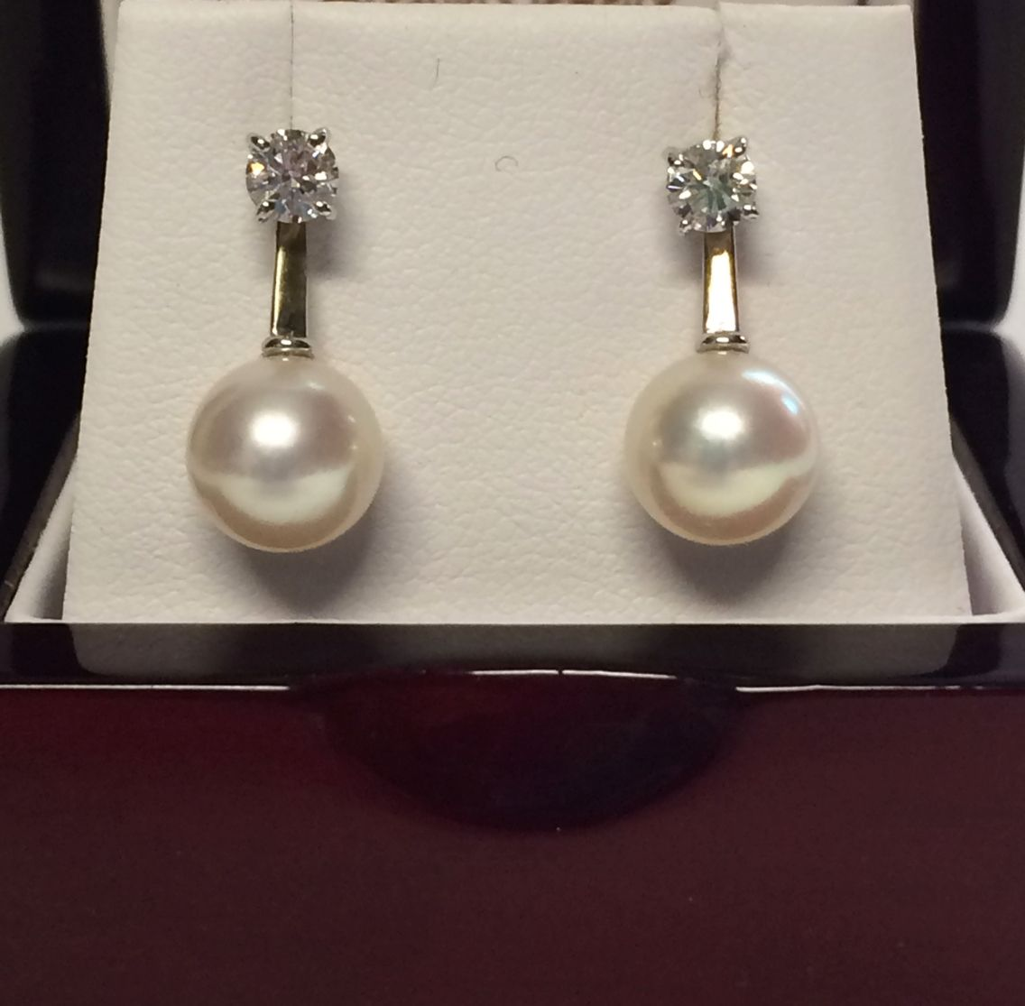 Beautiful Pearl Earring Jackets With Diamond Studs Https Etsy