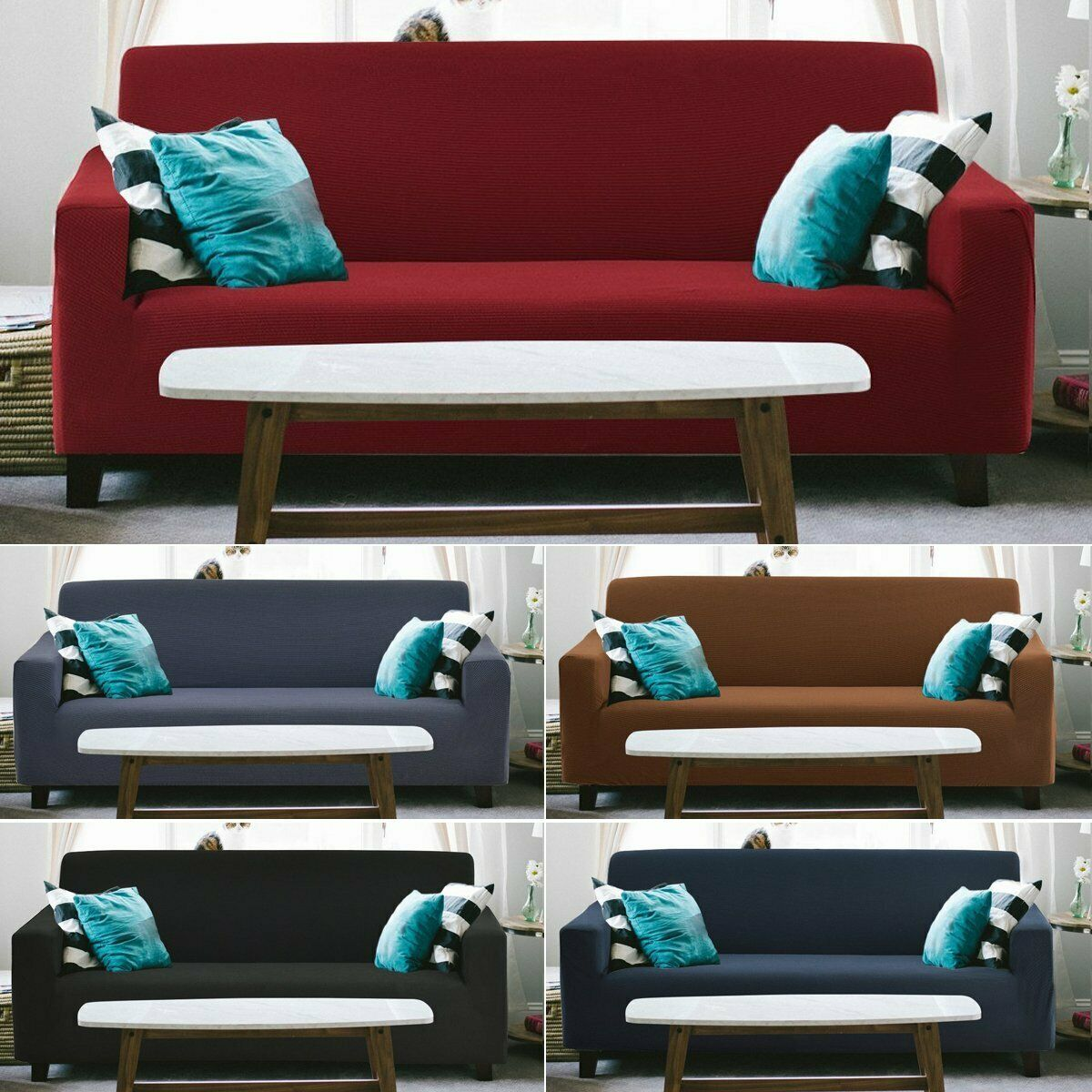 1 2 3 4 Seaters Sofa Couch Slipcover Stretch Covers Elastic Protector Easy Fit Sofa Slipcover Ideas Of Sofa Sli Sofa Settee Sofa