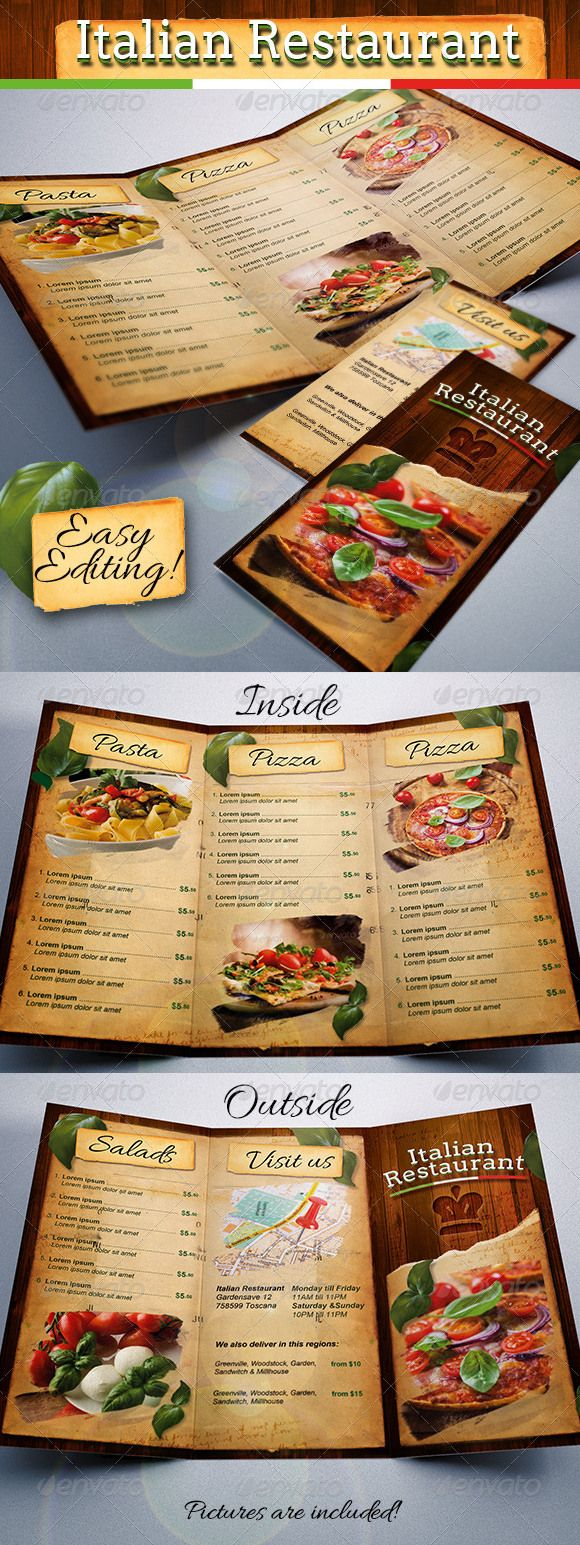 65+ Best Restaurant Food Menu Templates - PSD & InDesign | Diseño ...