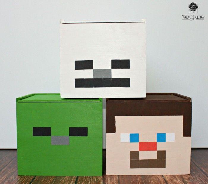 Minecraft Inspired Storage Cubes | Minecraft | Pinterest | Storage ...
