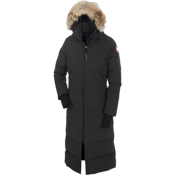 Canada Goose Mystique Down Parka ($950) ❤ liked on Polyvore featuring outerwear, coats, parka coat, canada goose coats, canada goose parka and canada goose