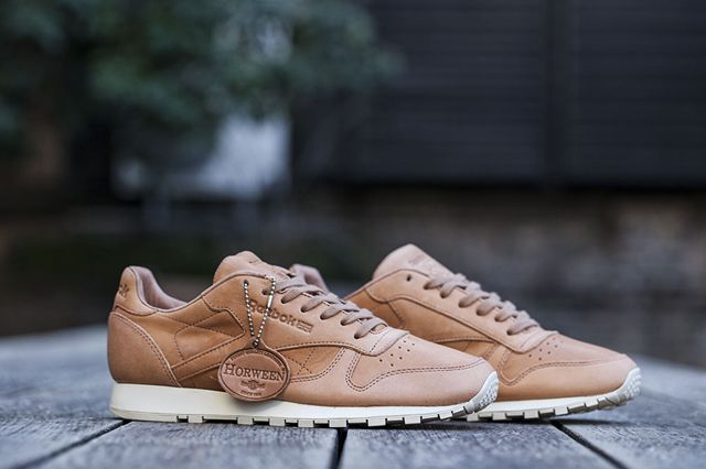 REEBOK  CLASSIC  LEATHER LUX  HORWEEN (NATURAL)  d1e123359