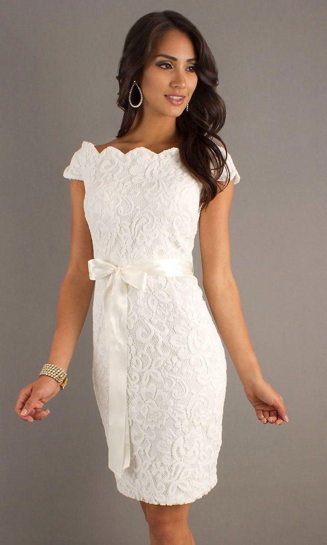 Robe soiree blanche dentelle