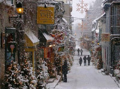 Old Town Of Quebec City Canada Winter Christmas Christmas Magic Beautiful Places
