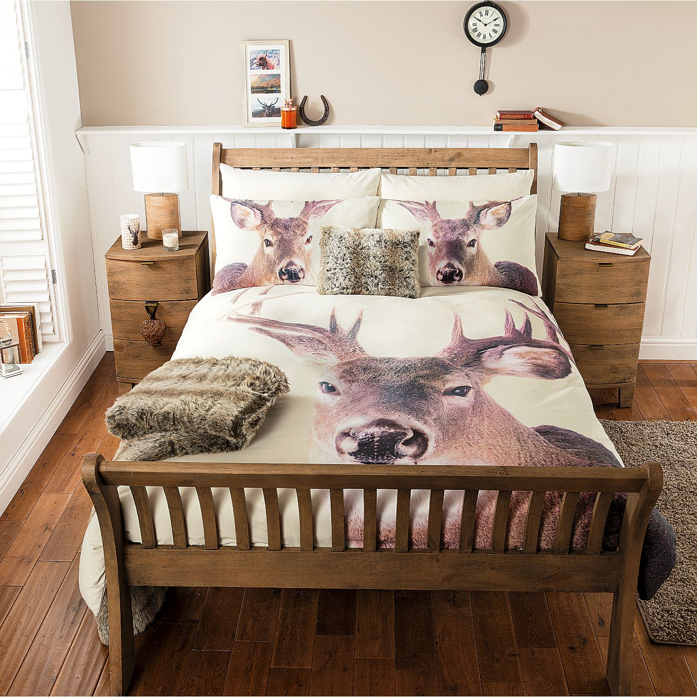 George Home Christmas graphic Stag Duvet Range