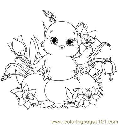 Babby easter chick Coloring Page   Húsvéti színezők - coloring ...