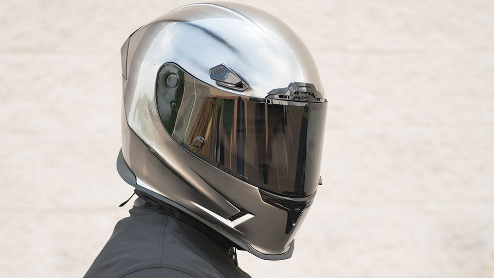 Icon Alliance RST Silver Motorcycle Riding Replacement Helmet Pro Shield Harley