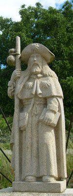 Santiago statue, Portela de Valcarce