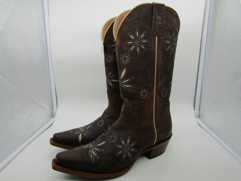 7cfd55921 Shyanne Daisy Mae Women's Brown Distressed Leather Cowgirl Boots Size 8.5 B  #fashion #clothing #shoes #accessories #womensshoes #boots (ebay link)