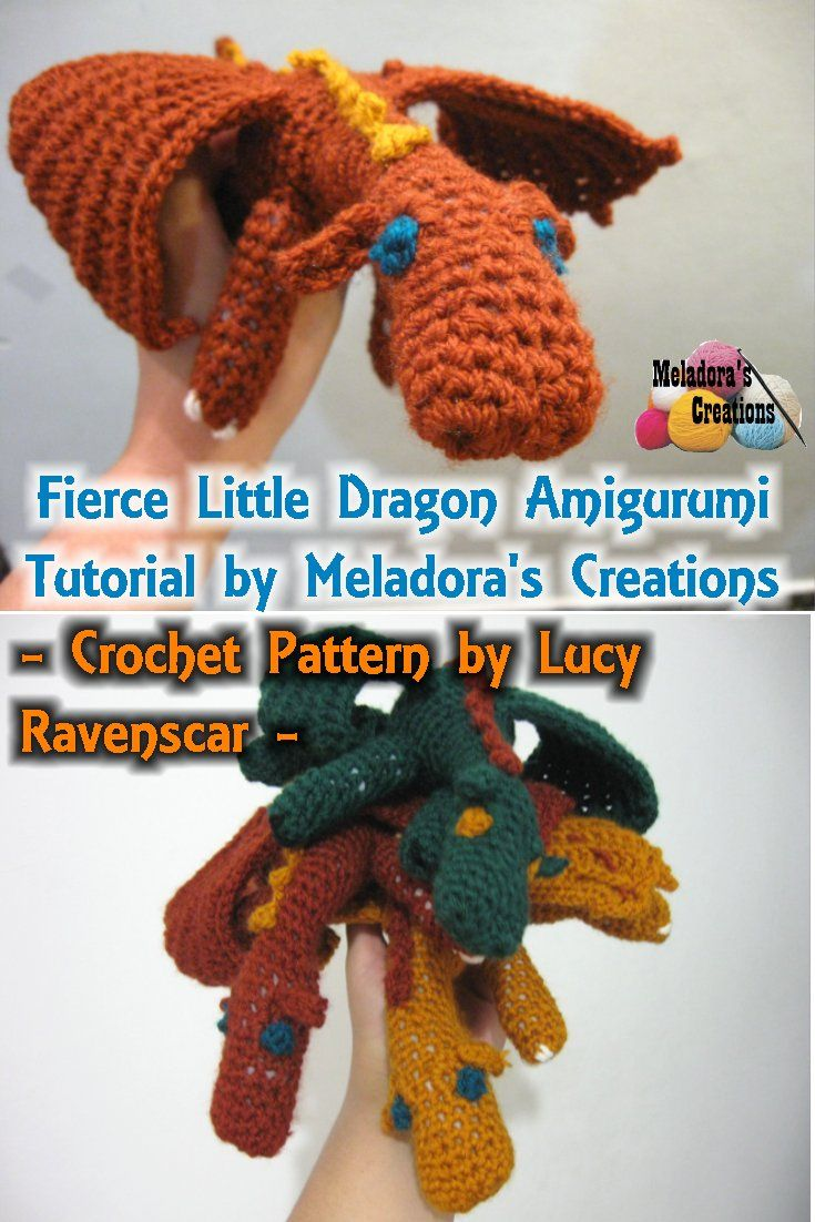 Amigurumi Fierce Dragon - Free Crochet Pattern | Meladoras Creations ...