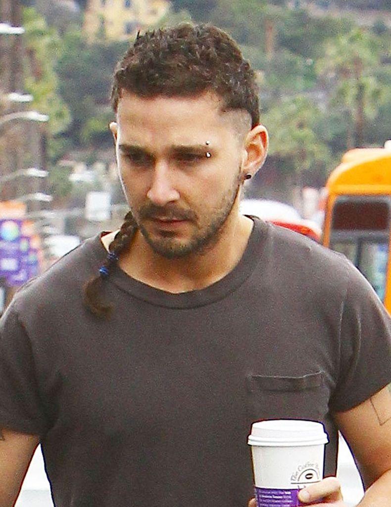 Shia Labeouf Braided Ponytail Man Ponytail Braided Ponytail Curly Hair Men