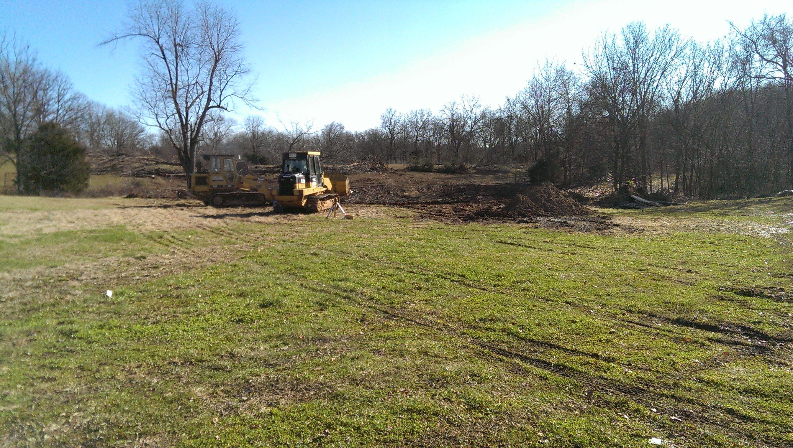12/17/15 Digging my new pond