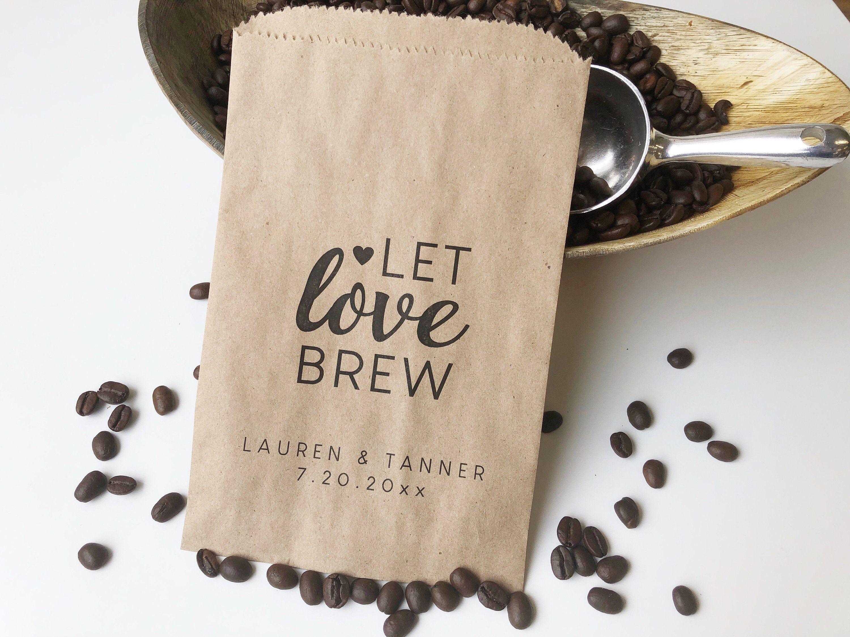 Bridal Shower Coffee Favor, Wedding Favor Bags
