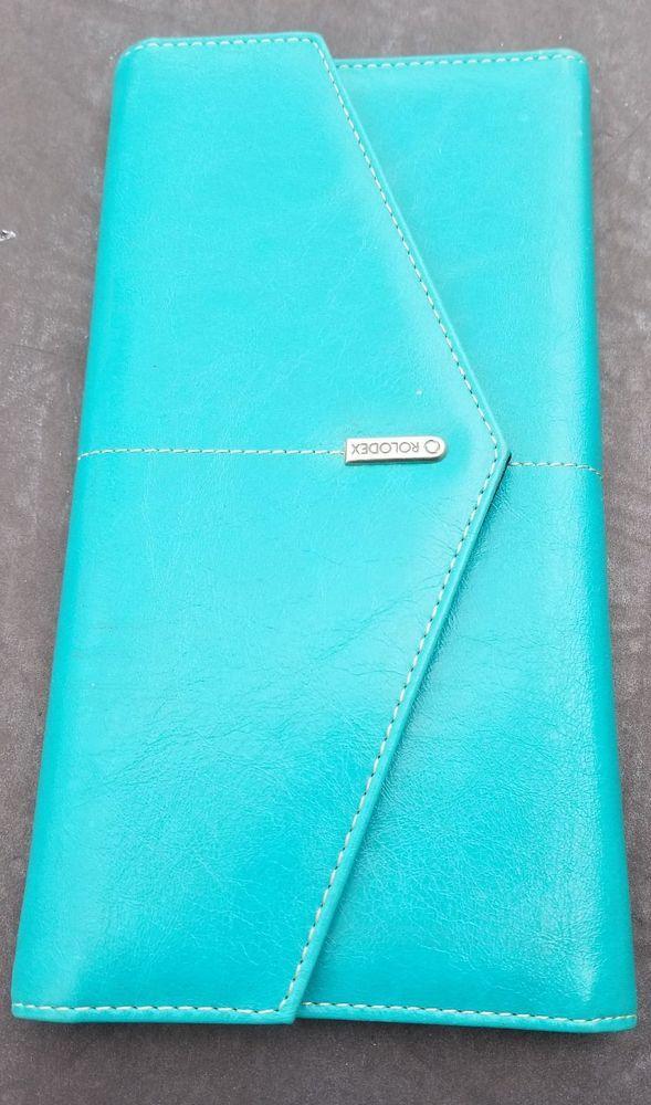 Rolodex wallet blue 10\
