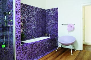 Purple Mosaic Tile Yipes With Images Purple Home Decor