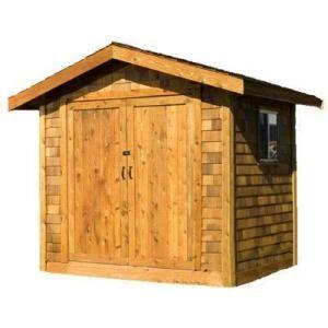 Premium Cedar Shed 8 Ft X 10 Ft Wood Premium Shingle Siding Shed Kit Ys108ps At The Home Depot Cedar Shed Shingle Siding Shed