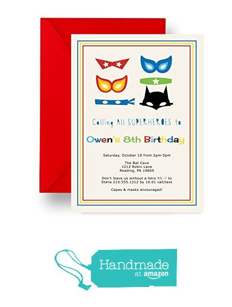 Kids Superheroes Birthday Party Invitations Masked Comic Hero – Clever Party Invitations