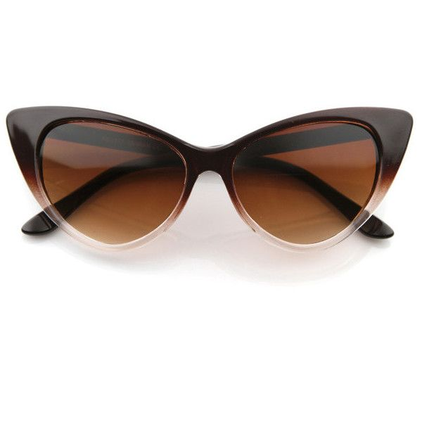 Retro 1950's Pointed Cat Eye Fashion Sunglasses 8571
