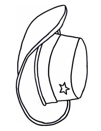 Cowgirl Hat Colouring Page Cowboy Hats Coloring Pages Wild West Theme