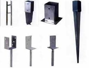 Post Anchor Sizes 3 1 2 X 3 1 2 4 X 4 5 X 5 6 X 6 Hdg And Powder Coating High Grade Steel Used For Wood Fe Fence Post Repair Fence Post