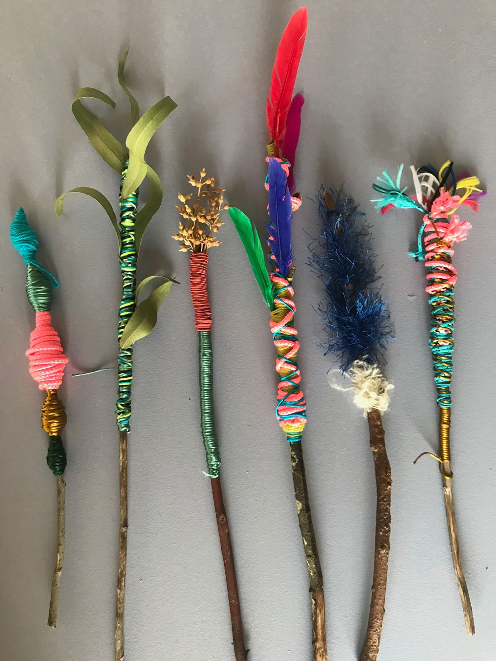 Colourful nature wands