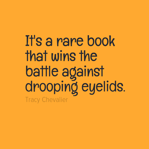 """""""It's a rare book that wins the battle against drooping"""
