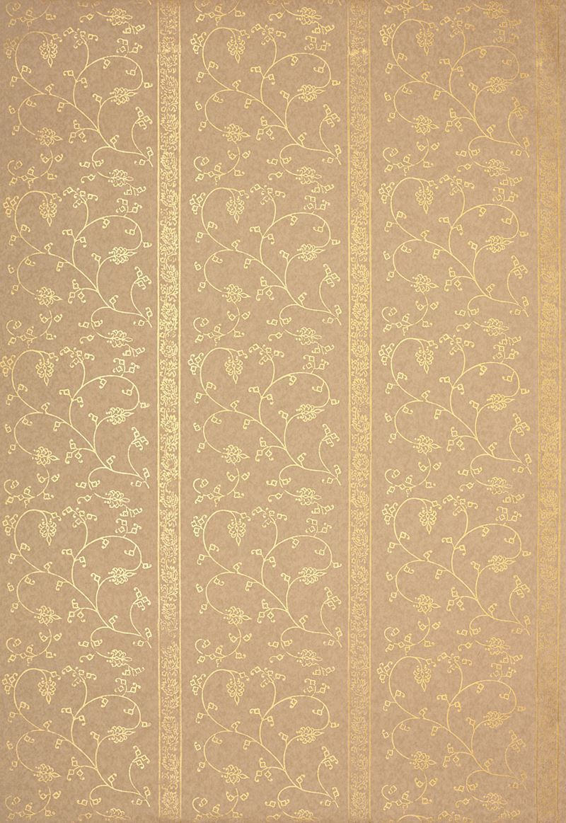 Schumacher Wallpaper 5005213 Khanpur Vine Gilt Wallpaper