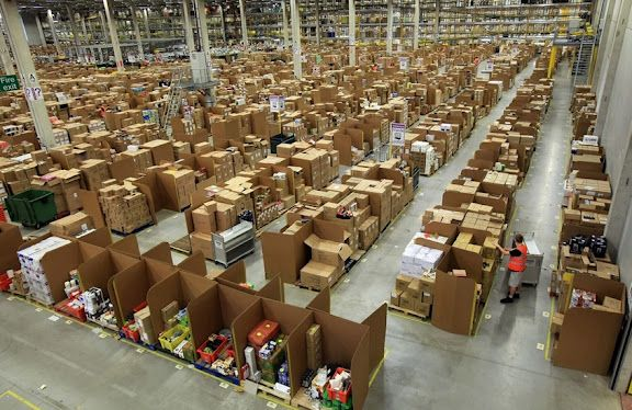 Warehouse Places Fulfillment Center Working For Amazon
