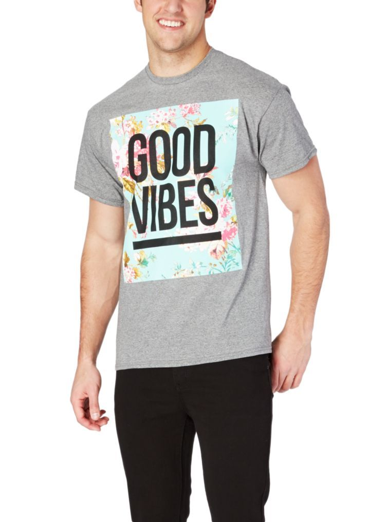 04425e0cf Good Vibes Floral Emblem Tee | Graphic Tees | rue21 | mens fashion ...
