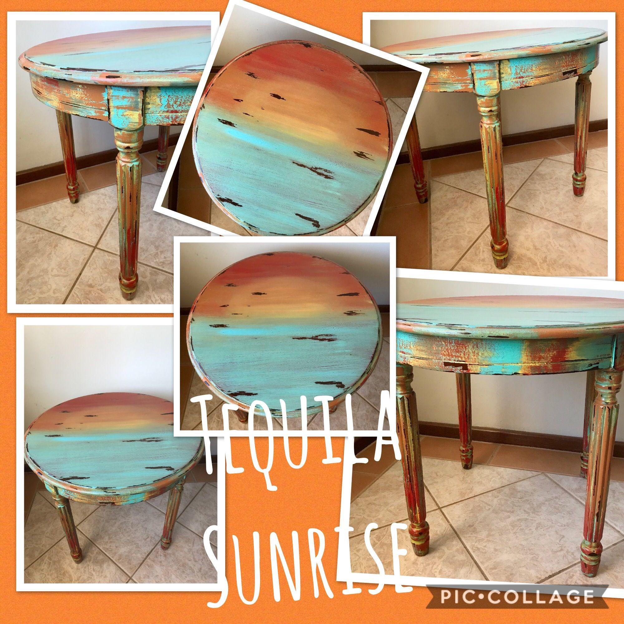 Blended sunrise table