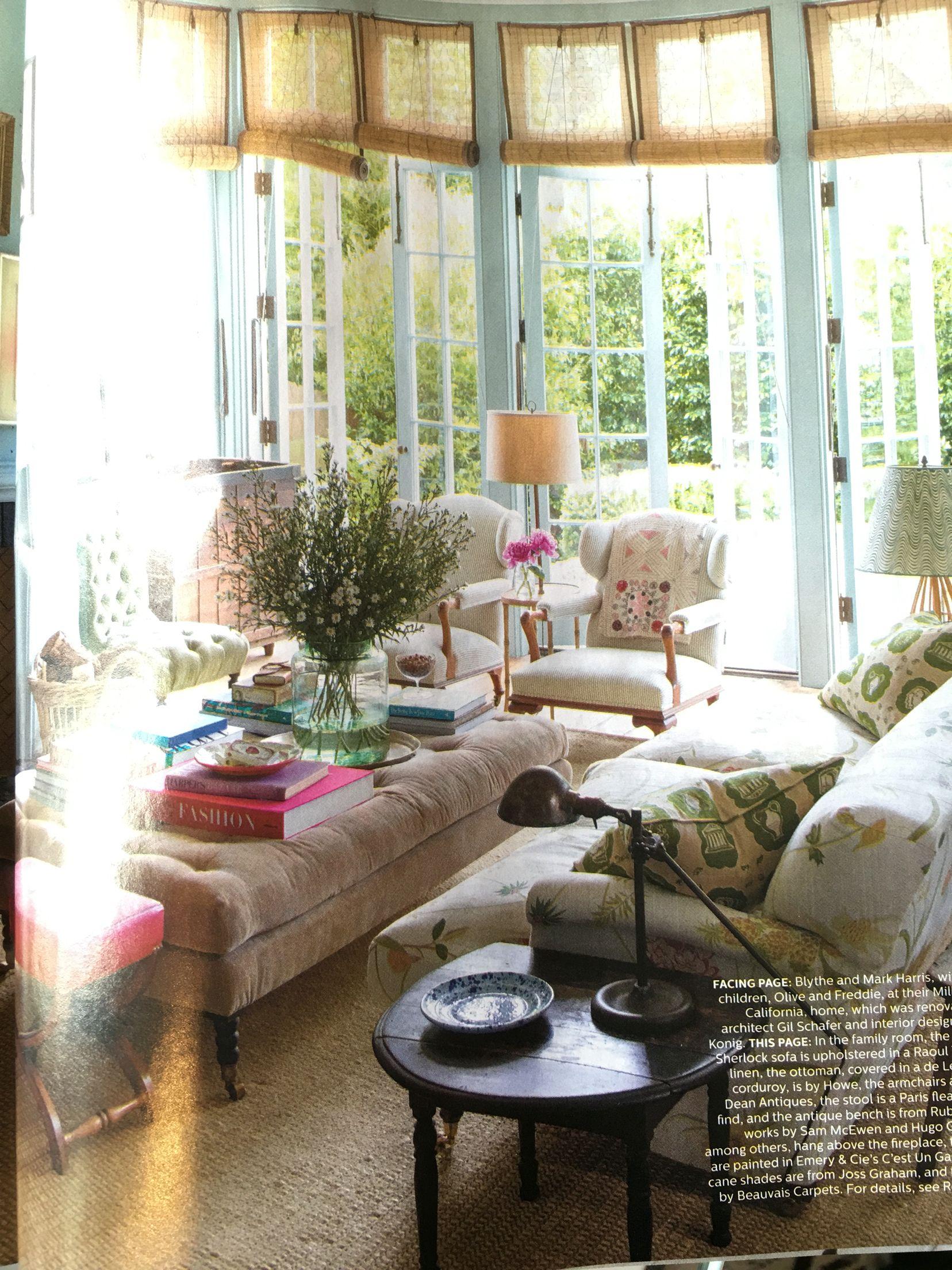 Gorgeous spread of Blythe Harris\u0027 Mill Valley house in Elle ...