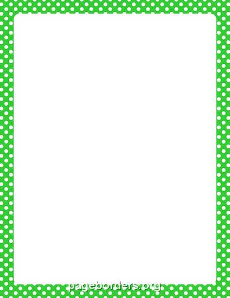 Green page borders