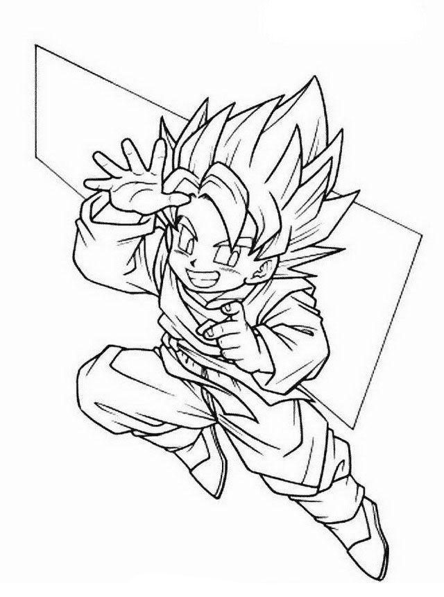 Dragon Ball Z Ausmalbilder. Malvorlagen Zeichnung ...