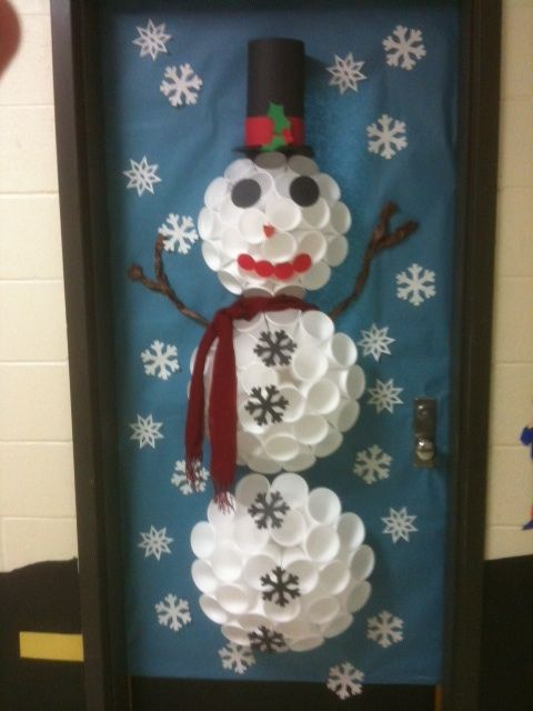 Seths Class Did This Door Its So Cute Frosty Door Decoration Made
