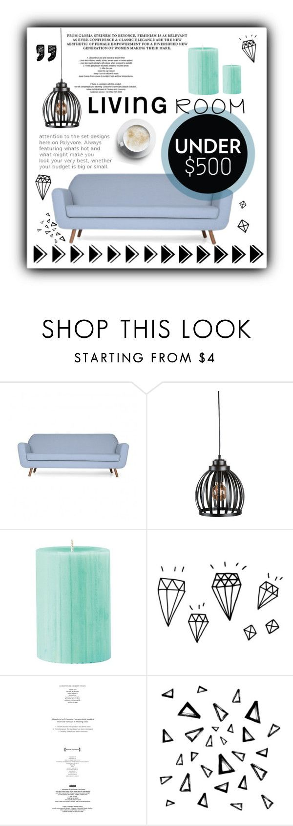 """""""It's under 500$!"""" by smaragda16 ❤ liked on Polyvore featuring interior, interiors, interior design, home, home decor, interior decorating, Improvements, StyleNanda, Nika and livingroom"""