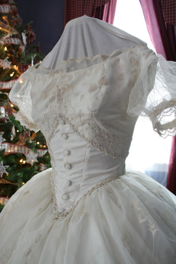 1860 ball gowns | via susan allison