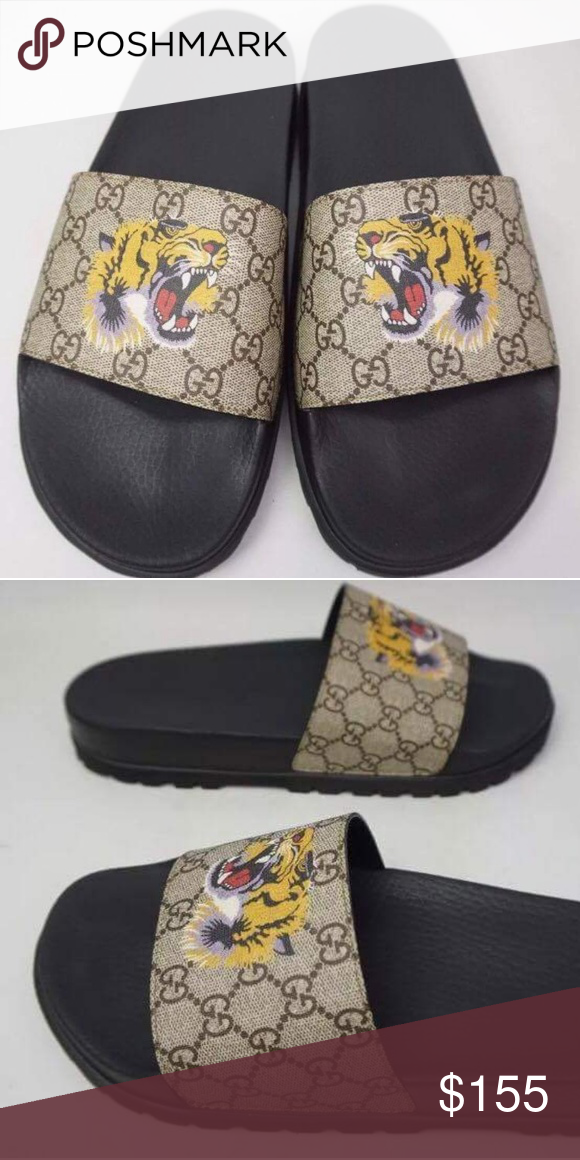 3808eb85149cd0 Gucci Tiger slides 2017 Brand new deadstock Receipts included many sizes  available 100% Authentic Original box included tags included Available Text  ...
