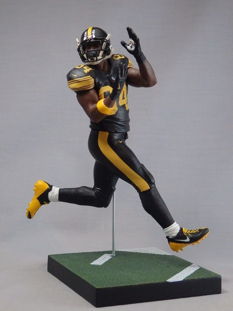 ANTONIO BROWN custom Mcfarlane figure Pittsburgh Steelers Jersey
