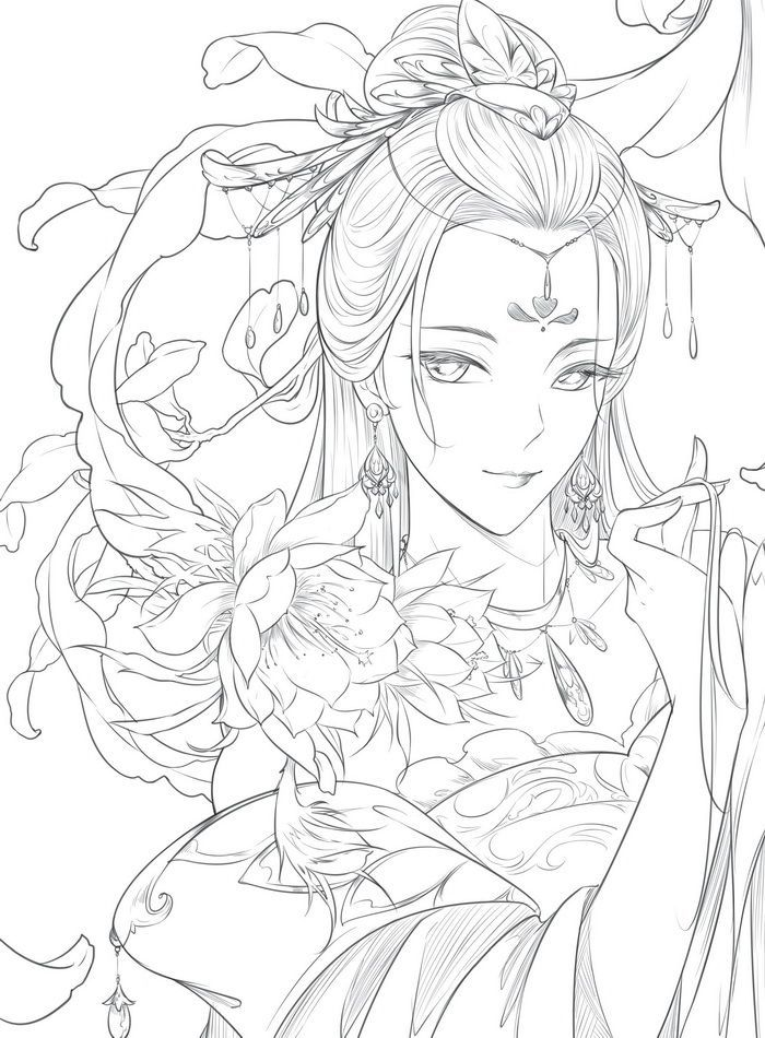 US $19.55 |New Chinese coloring book line sketch drawing textbook Chinese ancient beauty drawing book adult anti  stress coloring books|chinese coloring book|coloring book|book adults - AliExpress  #ancient #chinese #coloring #drawing #sketch #textbook #美人