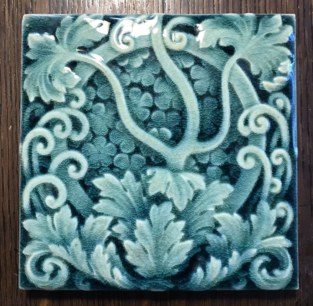 12 AVAILABLE FLOWER /& DRAGON FLY DESIGN 6 INCH 19TH CENTURY TILE