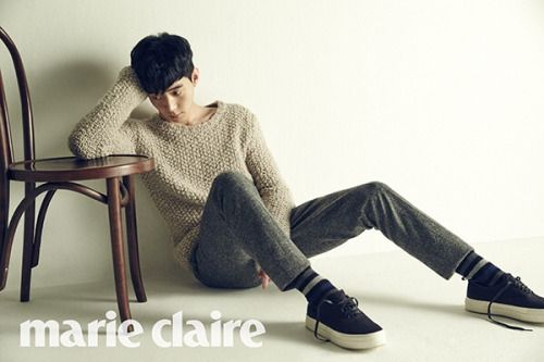 Park Yoo Hwan for Marie Claire Korea December  2015. Photographed By Mok Jung Wook