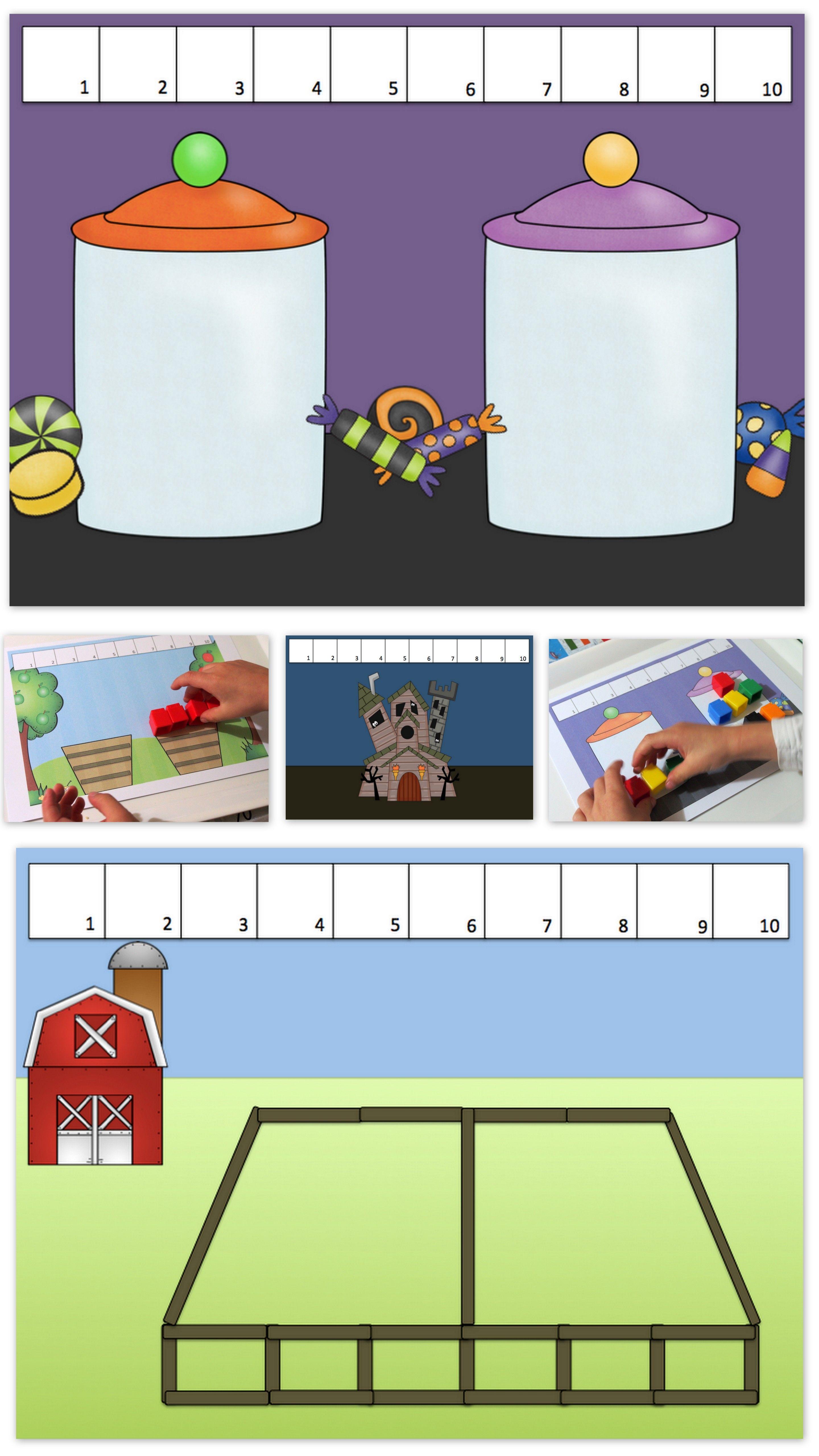 Unifix Cube Addition To 10 Story Mats