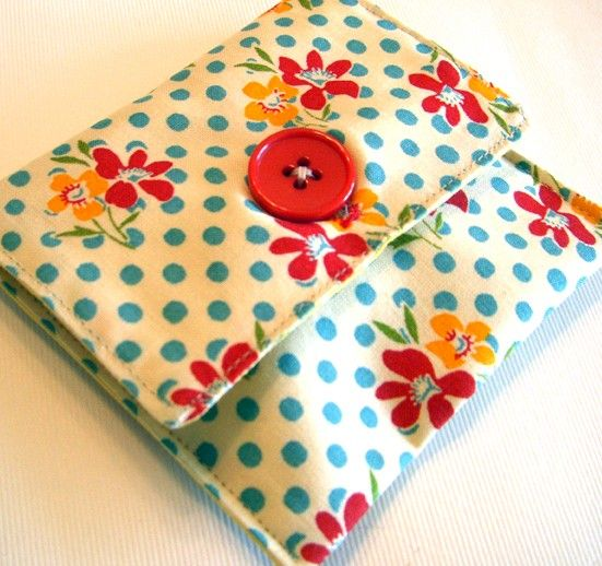 Japanese sewing set  red and yellow flower by Noei on Etsy, $16.00