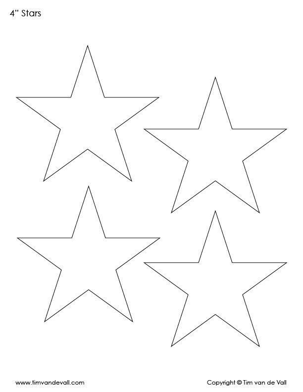 Free Printable Star Templates Pdf Bundle Black White Tim S Printables Star Template Star Template Printable Printable Star