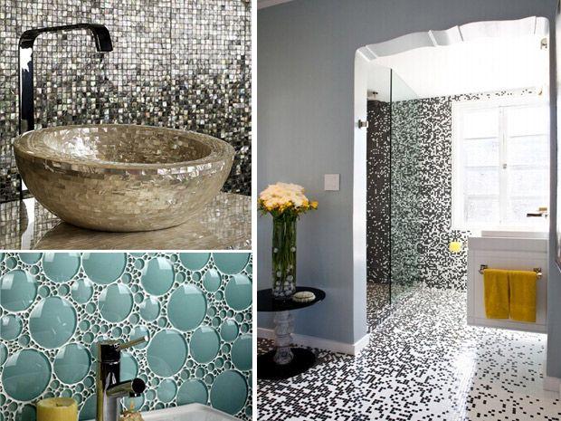Piastrelle per bagno moderno bagni pinterest - Piastrellare su piastrelle ...