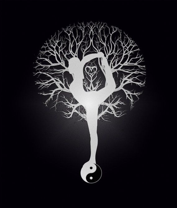 Tree of Life Yoga Yin Yang Digital Download 3333 x by AmeliaCarrie, $10.00