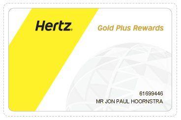 Hertz Gold Plus Rewards Card With Images Hertz Car Rental