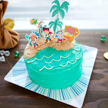 Enjoyable Jake And The Never Land Pirates Cake Topper With Images Pirate Funny Birthday Cards Online Elaedamsfinfo