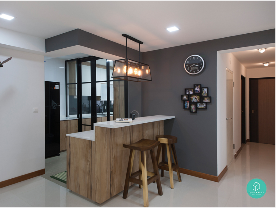 4 room hdb punggol kitchen dining pinterest room